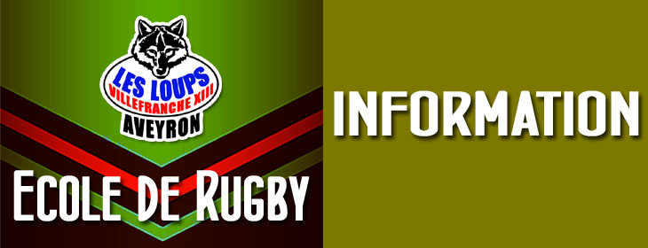 Ecole de rugby : information